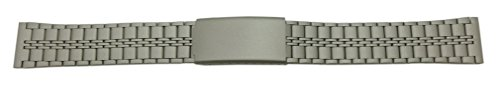 20mm Qualitäts Edelstahl Uhrenarmband Titan inkl. Myledershop Montageanleitung