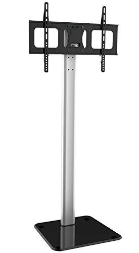 """Techly 028863 Supporto a Pavimento in Alluminio per TV LCD/LED/Plasma 32-70"""" Nero/Argento"""