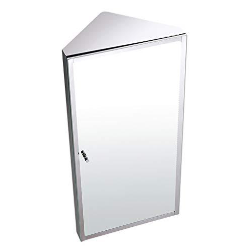 Spiegelschränke Dreieck Edelstahl-Badezimmer-Corner Aluminium Badezimmerspiegel Box Sanitär Badezimmerspiegel Wandhängeschrank WC Lagerschrank