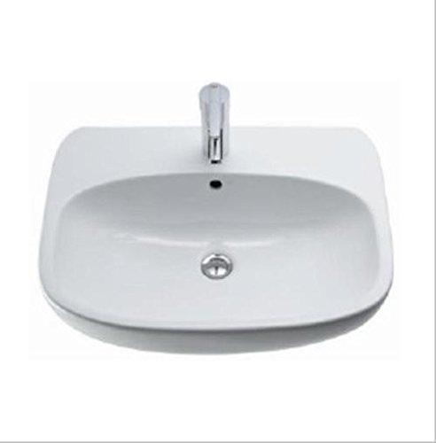 Ceravid Design Waschbecken 60cm im Komplett Set mit Grohe Armatur, C72160000