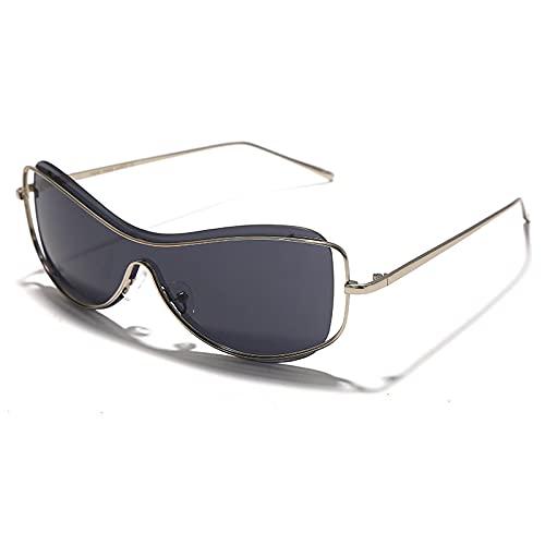 ShZyywrl Gafas De Sol De Moda Unisex Gafas De Sol Punk De Moda para Mujer, Gafas De Espejo para Hombre, Gafas Sin Montura, Monturas DeMetal,GafasÚnicas Pa