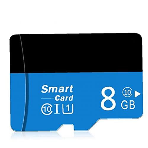 Tuimiyisou Micro SD Card con Adpter Alta Velocidad TF Tarjeta de Memoria para teléfonos Cámaras diseño del Jugador de MP3 de 8 GB humanizado