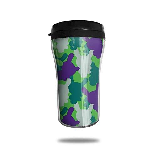 DJNGN Kid Robot Wallpaper Reise Kaffeetasse 3D-gedruckte tragbare Vakuumbecher, isolierte Teetasse Wasserflasche Becher zum Trinken mit Deckel 250 ml