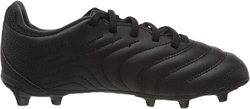 adidas Boys Copa 20.3 (FG) Football Shoe, Core Black/Core Black/Solid Grey, 34 EU