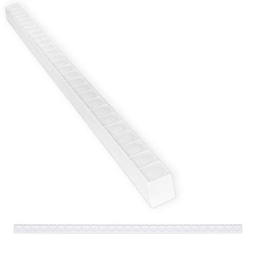 Tile Trim 1/2 x 12 inch Nail Head Pencil Decorative Shower Ceramic Tile Edge Liner Backsplash Wall Molding - Matte Bright White (12 Pack)