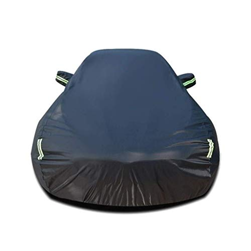 MJHETCY Auto Vollgarage Abdeckplane Allwetterschutz, Car-Cover Kompatibel mit Opel Insignia Sports Tourer Car Cover Waterproof Breathable Thick Sonnenschutz Regen Persenning Leinwand (Farbe: Schwarz)