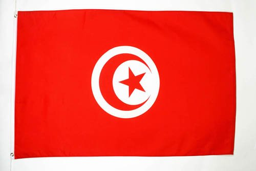 AZ FLAG Flagge TUNESIEN 90x60cm - TUNESISCHE Fahne 60 x 90 cm - flaggen Top Qualität