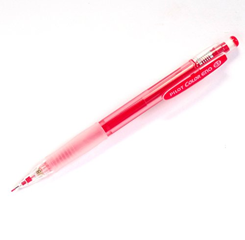Pilot Color Eno Red Set, 0.7mm Mechanical Pencil + Mechanical Pencil Lead 0.7mm, Red, 10 Leads(Japan Import) Photo #2