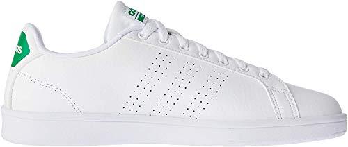 adidas Cloudfoam Advantage, Zapatillas para Hombre, Blanco (Ftwbla / Ftwbla / Verde), 40 EU