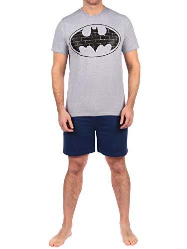 DC Comics Herren Batman Schlafanzuge Blau Size XX-Large