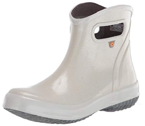 BOGS womens Rainboot Ankle Height Waterproof,Glitter Sliver,7
