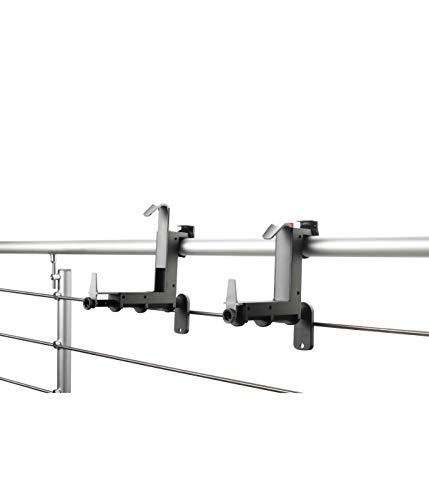 Dehner Blumenkastenhalter, für Höhen 14 - 20 cm, Breiten 12 - 21 cm, Kunststoff, anthrazit