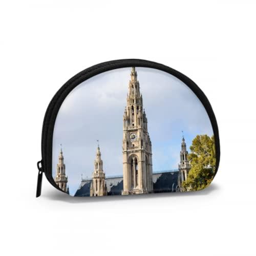 Reise-Münztasche Romantik Gothic Architektur Kirche Mini-Geldbörse für Mädchen Niedliche Münztasche für Frauen mit Reißverschluss Mini-Kosmetik-Kosmetik-Taschen für Frauen Mädchen Party-Ges
