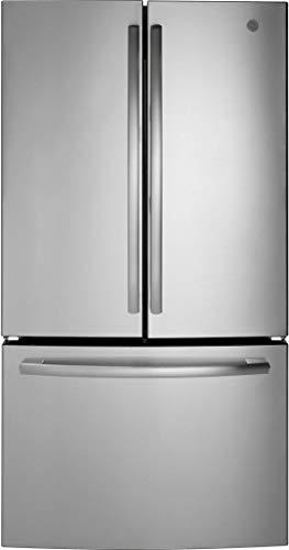 Refrigerator GE French Door 27 cu ft Ice Maker Freestanding Kitchen Appliance (Stainless Steel)