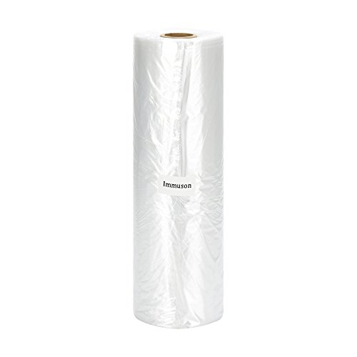 Immuson 12' X 20' Plastic Produce Bag on a Roll Food Storage Clear Bags For Fruits Vegetable Bread...