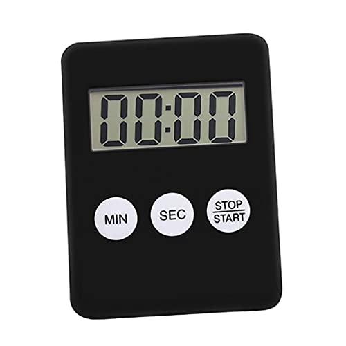 Bonarty Temporizador de Cocina Digital Magnético Reloj de Cuenta Regresiva para Cocinar Alarma Fuerte - Negro, Individual