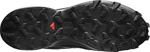 Salomon Men's SPEEDCROSS 5 GTX Trail Running, Black/Black/Phantom, 8.5