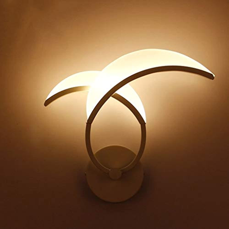 Unbekannt SCH einfache LED-Wandlampe Hauptschlafzimmer-Nachttischlampe Moderne einfache Gang-Eingangsleuchte Fernsehwandlampe (Farbe   A)