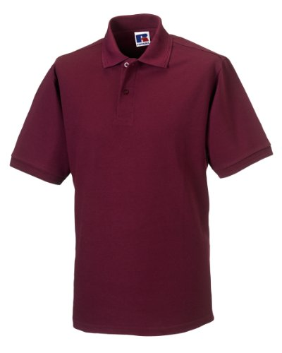 Russell Workwear - Polo - - Polo - Col Polo - Manches Courtes Homme - Rouge - Bordeaux - Large
