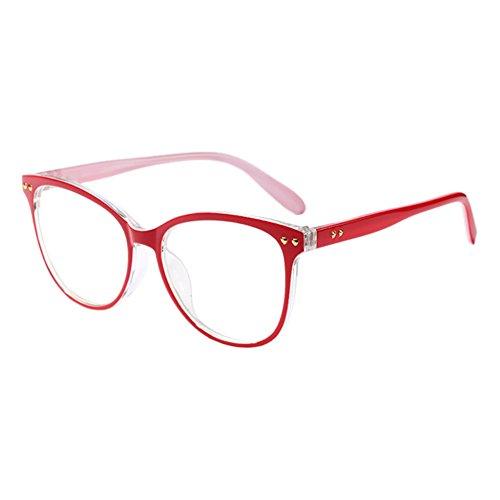 Haodasi Damen Oversized Persönlichkeit Oval Rahmen Optical Brillen Vintage Korean Voller Rahmen Klare Linse Glasses UV400 Nicht-Verschreibung Goggles