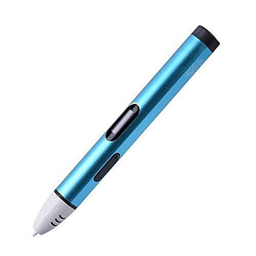 Stylo d'impression intelligente 3D stylos for les enfants USB 3D Pen enfants Dessin 3D Stroke Art de l'air d'impression intelligente Pen et l'écran LCD Famille DIY (Couleur: Argent, Taille: ABS Filagm