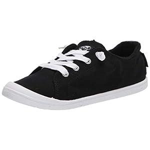 Roxy Women's Bayshore Slip ON Shoe Sneaker, Black/Anthracite 20, 8 M US