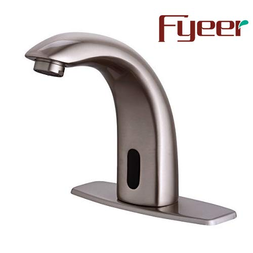 Fyeer Automatic Touchless Sensor Bathroom Faucet, Motion Activated Hands Free Kitchen Sink Tap with...