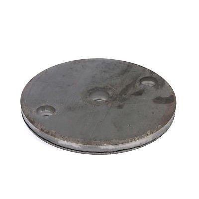 Stahl Ankerplatte Qualitätsstahl S235 (ST 37) mit 2 Bohrungen und Mittelloch. Oberfläche blank. Durchmesser 100 x 6 mm. Bohrung 11 mm. 10 Stück!