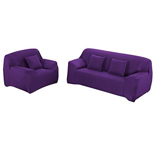 WOWTOY - Funda para sofá (2 plazas, 2 plazas, color morado