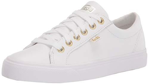 Keds Damen Jump Kick Leather Sneaker, Weiß, 37 EU
