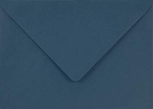 25 Blau DIN C5 Briefumschläge, 162x229mm, 115g, Sirio Color Blu, Spitzklappe, ohne Fenster, ideal für Hochzeit, Geburtstag, Taufe, Weihnachten, Einladungen, Briefkarten, Grußkarten