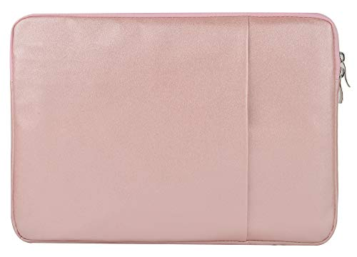 LuvCase Laptop Protective Sleeve Canvas Case Bag with Pocket Compatible with MacBook Pro 15-16 Inch, A2141/A1707/A1990/A1398/A1286, Chromebook, Acer, Thinkpad Notebook (Rose Gold Sparkling)