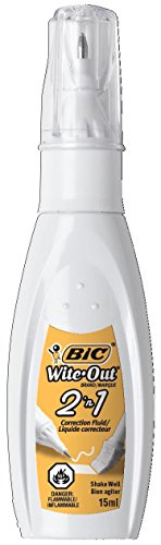BIC 15ml Bottle Wite-Out 2 in 1 Correction Fluid (BICWOPFP11)