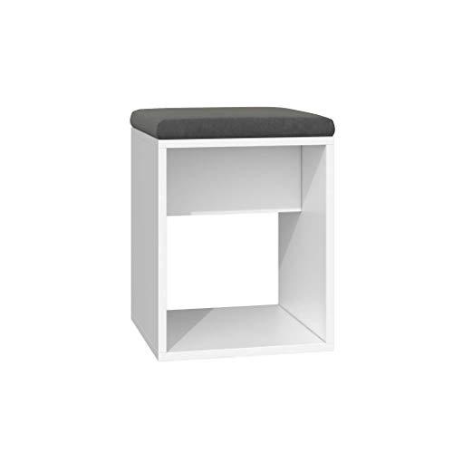 TBA Luna Hocker - mit einem Kissen für einen Stuhl - weiße Farbe Raum