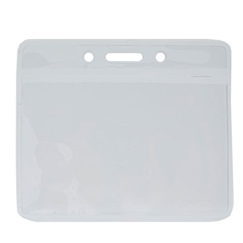 Clear Horizontal Vinyl ID Badge Holder by Specialist ID, Packaged/Sold Individually