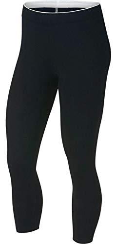 Nike 3/4 Leggings Sportswear Club Futura Cropped, Black/(Crimson Pulse), S, 890803-014