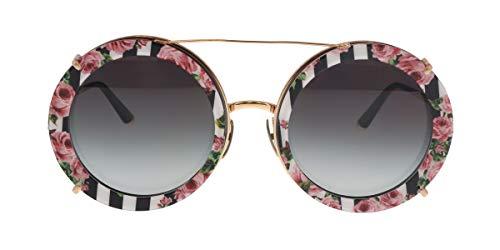 Dolce & Gabbana 0DG2198 Gafas de sol, Pink Gold/Black Print Rose, 63 para Mujer