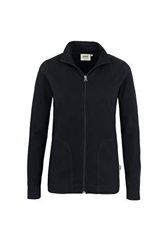 HAKRO Damen Casual Sweatjacke - 227 - schwarz - Größe: L