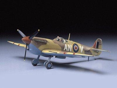 タミヤ 1/48 傑作機シリーズ No.35 イギリス空軍 スーパーマリン スピットファイア Mk.Vb TROP プラモデル ...
