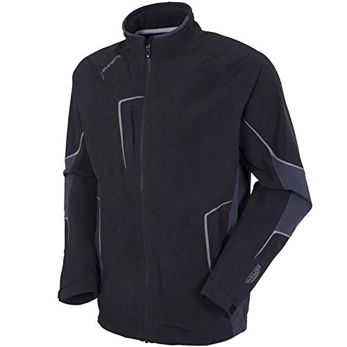 Find Cheap Sunice Chad Zephal Z-Tech Waterproof Stretch Jacket Black/Charcoal/Charcoal Melange Small