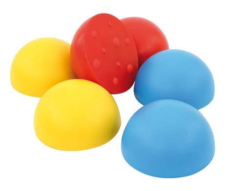 Gonge Satz mit 6 Balancier-Halbkugeln - Gleichgewicht-Übung, Sport- und Turnunterricht, balancieren