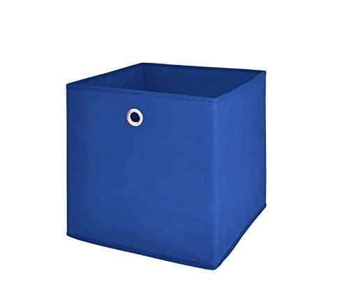Möbel Akut Faltbox 4er Set in blau, Aufbewahrungsbox für Raumteiler oder Regale