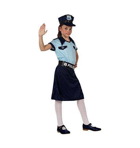 ATOSA disfraz policia niña infantil celeste 3 a 4 años