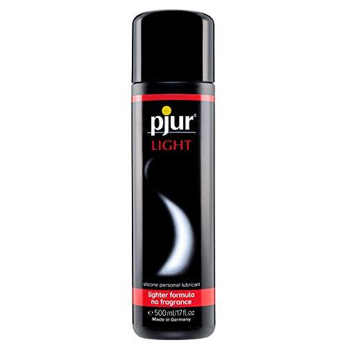pjur LIGHT - Lubricante y gel de masaje de silicona - fórmula ligera para una lubricación extralarga y más placer en el sexo (500ml)