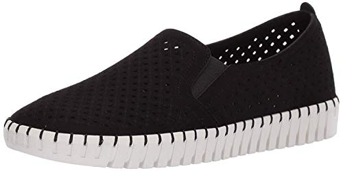 Skechers Sepulveda Blvd-A La Mode, Zapatillas sin Cordones Mujer, Negro BKW Black Microfiber Off White Trim, 41 EU
