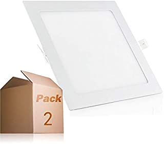 Placa LED Cuadrada 20W Panel Superslim (Pack 2) Blanco Neutro 4000k-4500k Empotrado ONSSI LED