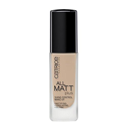 Catrice All Matt Plus Shine Control Make Up, Foundation, Nr. 020 Nude Beige, nude, für Mischhaut, für unreine Haut, langanhaltend, mattierend, matt, vegan, ölfrei, ohne Alkohol (30ml)
