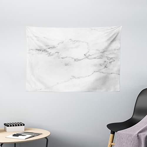 ABAKUHAUS Marmor Wandteppich, Mineral Bio, Wohnzimmer Schlafzimmer Wandtuch Seidiges Satin Wandteppich, 150 x 100 cm, grau Staub