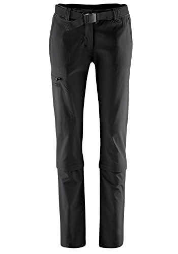 Maier Sports Damen Hose Arolla Zip Off, schwarz (black), 40