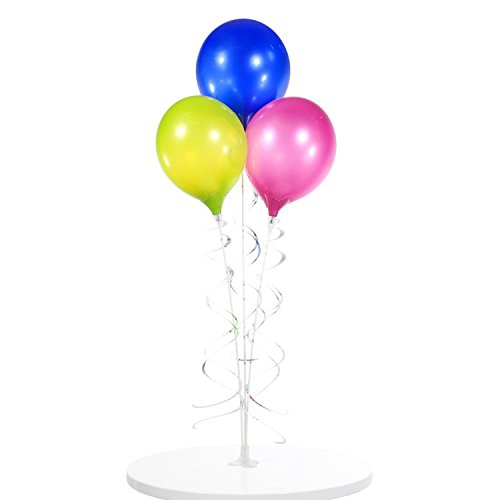 PermaShine - Reusable and Helium Free Triple Balloon Bouquet - Permanent Plastic Indoor and Outdoor Balloons